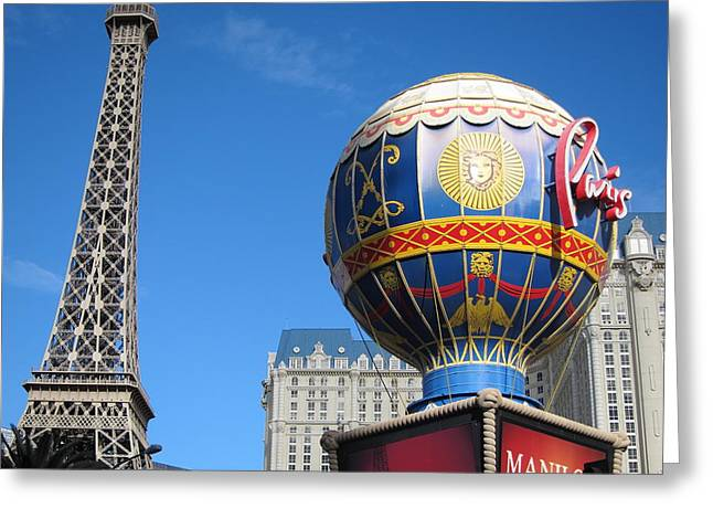 Air Greeting Cards - Las Vegas - Paris Casino - 12127 Greeting Card by DC Photographer