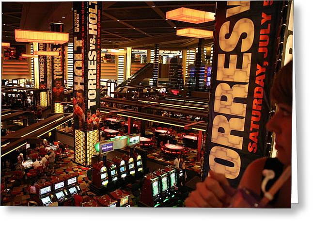 Game Greeting Cards - Las Vegas - Planet Hollywood Casino - 12124 Greeting Card by DC Photographer