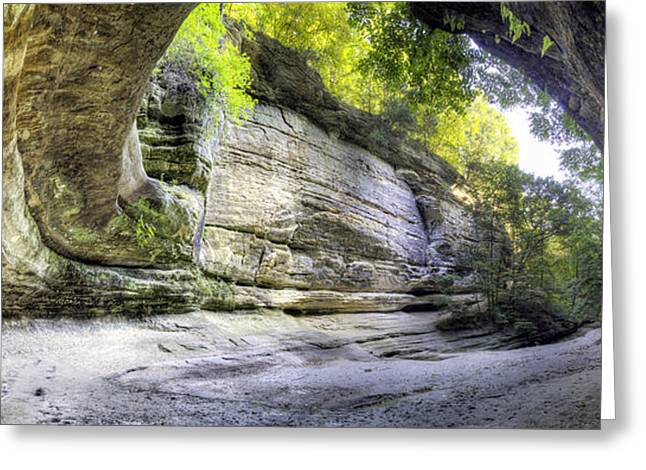 Starved Rock Park Greeting Cards - LaSalle Canyon at Starved Rock Greeting Card by Twenty Two North Photography