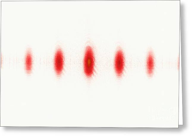 Helium Greeting Cards - Laser Beam Split By Diffraction Grating Greeting Card by GIPhotoStock