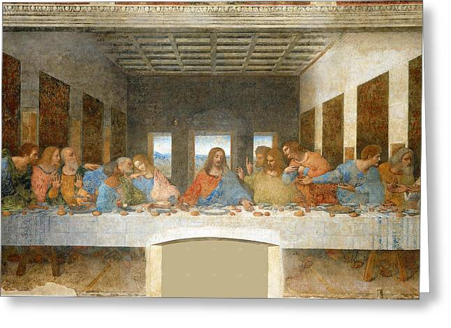 Gestures Greeting Cards - Last Supper Greeting Card by Leonardo Da Vinci