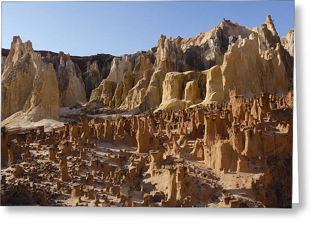 Strict Greeting Cards - Lavaka Or Erosion Scars Madagascar Greeting Card by Pete Oxford