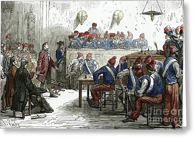 Reformer Greeting Cards - Lavoisiers Trial, 1794 Greeting Card by Sheila Terry