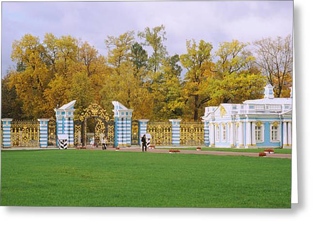 Commonwealth Of Independent States Greeting Cards - Lawn In Front Of A Palace, Catherine Greeting Card by Panoramic Images
