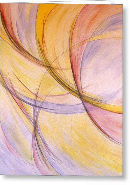Synesthesia Greeting Cards - Laya Greeting Card by Elaine Oehmich