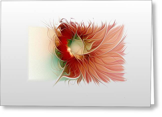 Floral Digital Art Digital Art Greeting Cards - Lazy Daisy Greeting Card by Amanda Moore