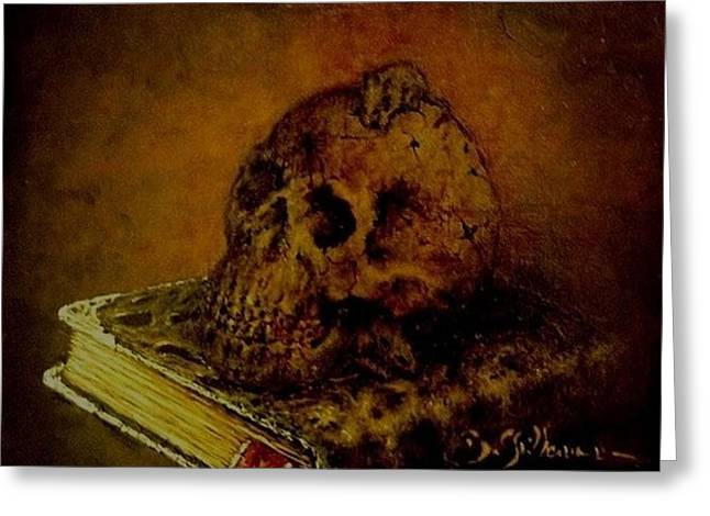 Workshop Guillaume Art Gallery Greeting Cards - Le Livre des Morts Greeting Card by Guillaume Bruno