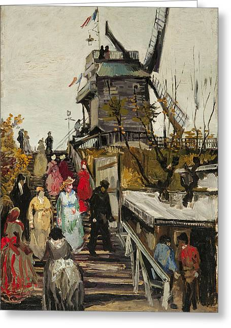 Historically Significant Greeting Cards - Le Moulin de Blute Fin Greeting Card by Vincent VAn Gogh