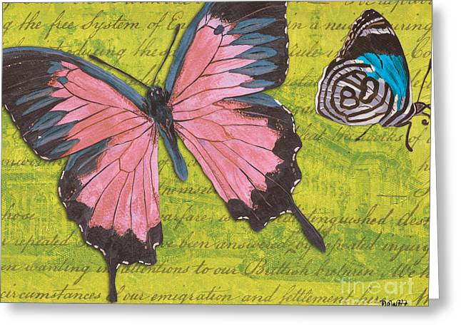 Handwritten Greeting Cards - Le Papillon 2 Greeting Card by Debbie DeWitt