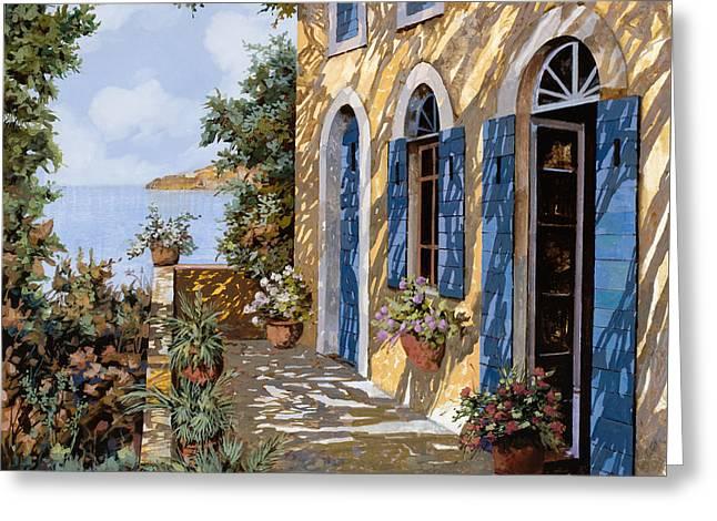 Le Porte Blu Greeting Card by Guido Borelli