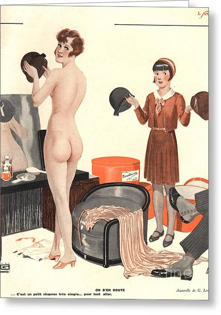 Le Sourire 1920s France Erotica Sales Greeting Card by The Advertising Archives
