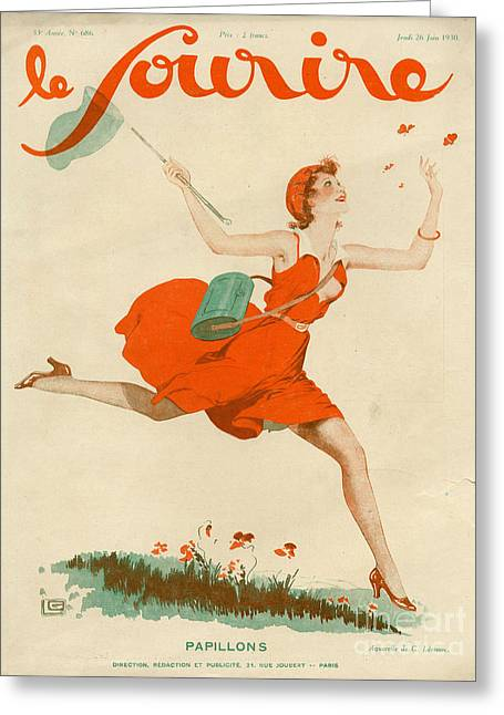 Le Sourire 1930 1930s France Magazines Greeting Card by The Advertising Archives