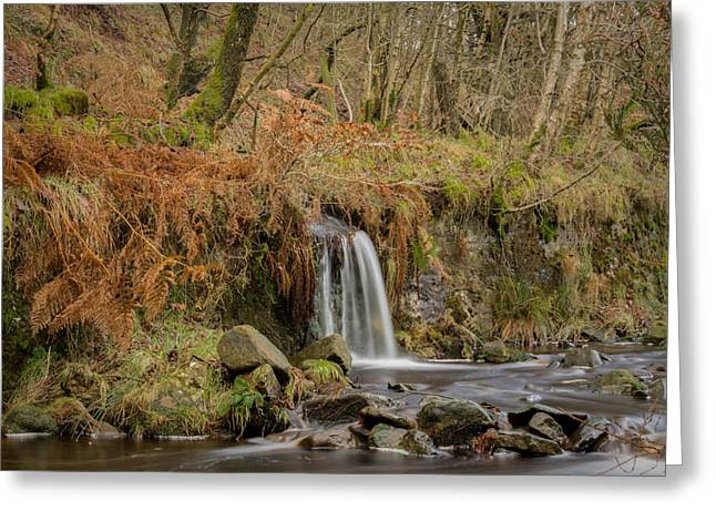 Hike Greeting Cards - Lead Mine Clough Waterfall Bolton Greeting Card by Daniel Kay