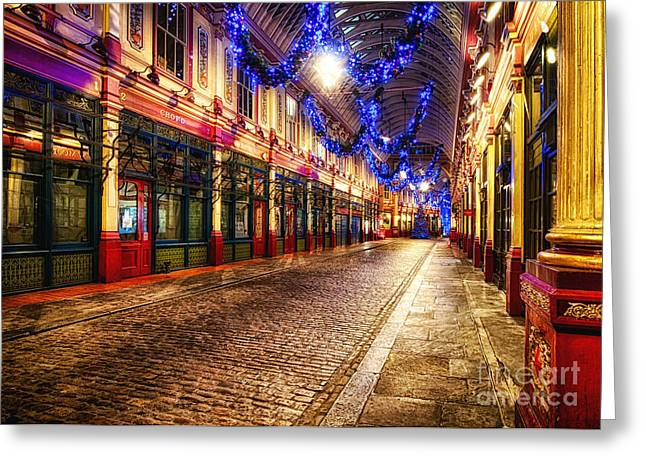 D700 Greeting Cards - Leadenhall Christmas Lights Greeting Card by Jack Torcello