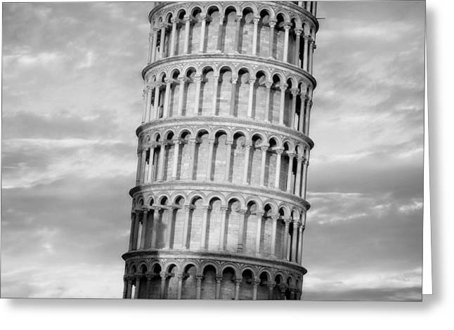 Leaning Tower Of Pisa Architectural Detail Greeting Card by Pixabay