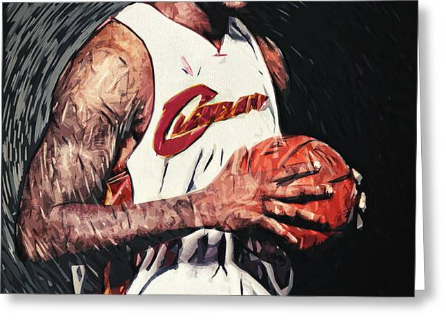 LeBron james Greeting Card by Taylan Soyturk