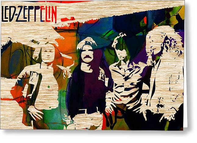 Led Zeppelin Prints Greeting Cards - Led Zeppelin Greeting Card by Marvin Blaine