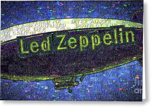 Led Zeppelin Greeting Card by RJ Aguilar