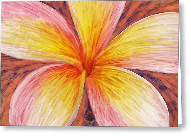 Plumeria Greeting Cards - Leelawadee Greeting Card by Atiketta Sangasaeng