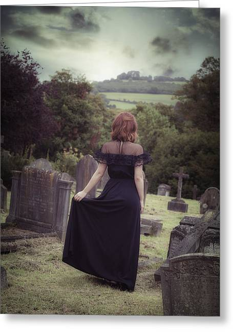 Gothic Cross Greeting Cards - Left Alone Greeting Card by Joana Kruse