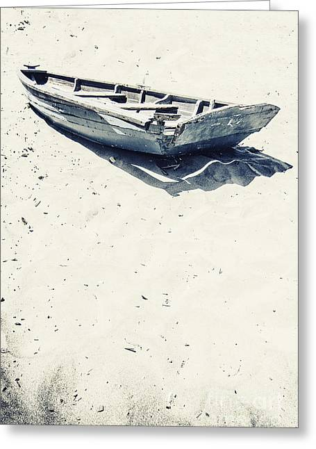 Row Boat Greeting Cards - Left Greeting Card by Margie Hurwich
