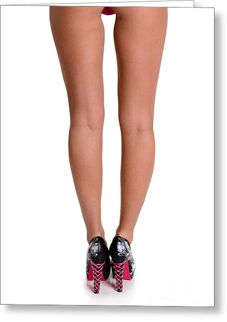 Skinny Greeting Cards - Legs and Heels Greeting Card by Jt PhotoDesign