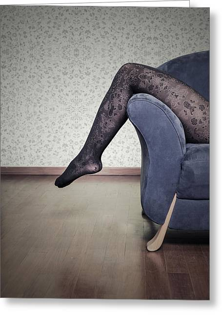 Panty Hose Greeting Cards - Legs Greeting Card by Joana Kruse