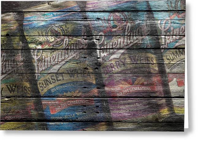 Saloons Greeting Cards - Leinenkugels Greeting Card by Joe Hamilton