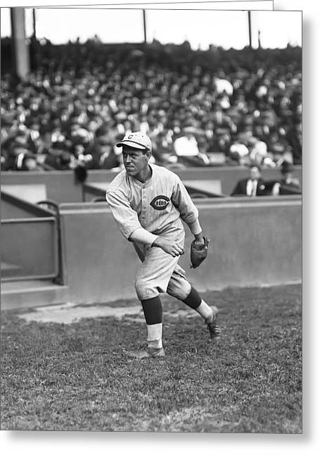 Boston Red Sox Greeting Cards - Leo A. Lee Fohl Greeting Card by Retro Images Archive