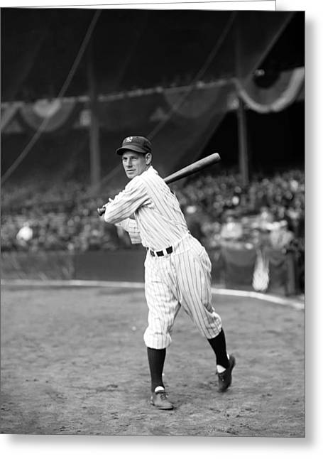 Yankee Stadium Greeting Cards - Leo E. Durocher Greeting Card by Retro Images Archive