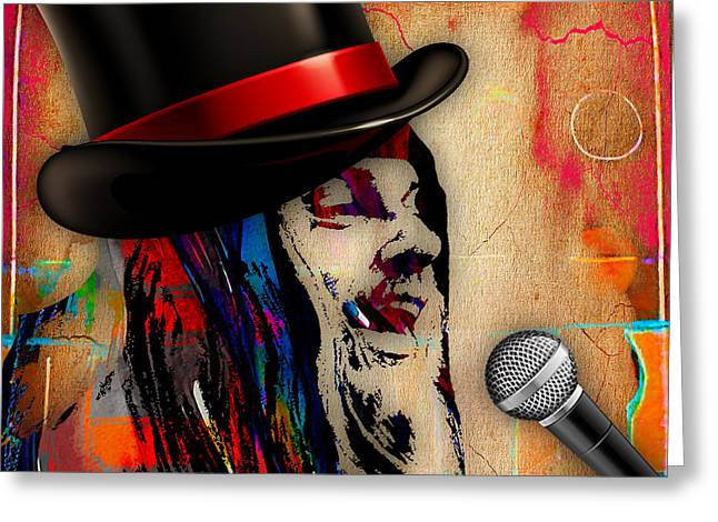 Pop Singer Greeting Cards - Leon Russell Collection Greeting Card by Marvin Blaine
