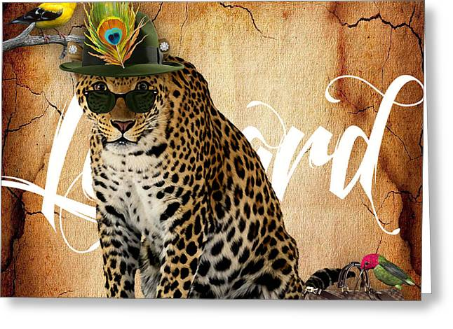 African Greeting Cards - Leopard Collection Greeting Card by Marvin Blaine