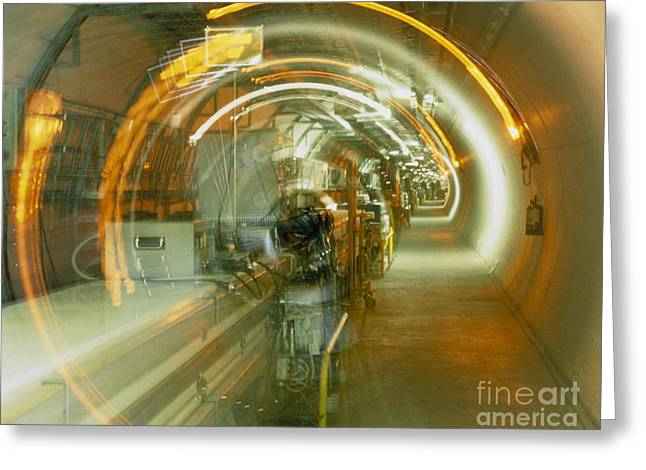 Cern Greeting Cards - Lep Collider Tunnel, Cern Greeting Card by David Parker