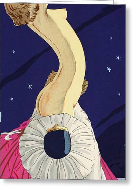 Odalisque Drawings Greeting Cards - Les Cinq Sens Greeting Card by Ettore Tito