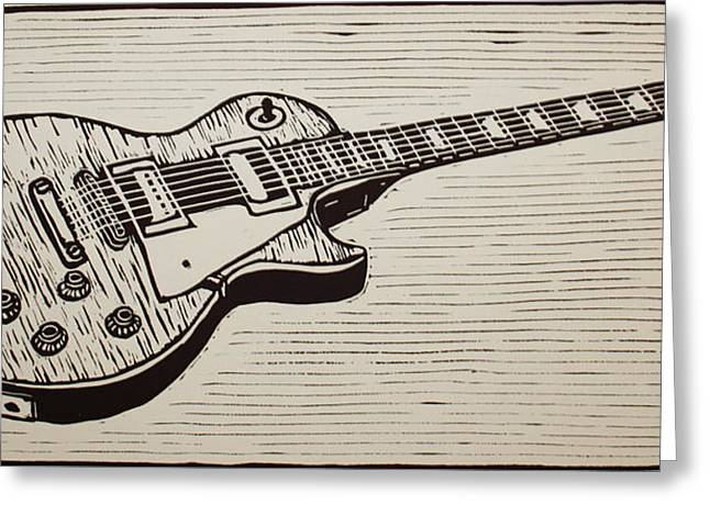 Les Paul Greeting Card by William Cauthern