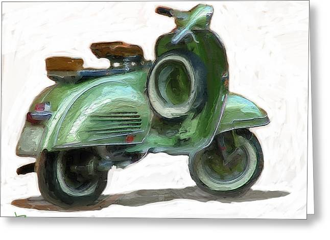 Motor Scooters Greeting Cards - Lets Go For a Ride Greeting Card by Russell Pierce