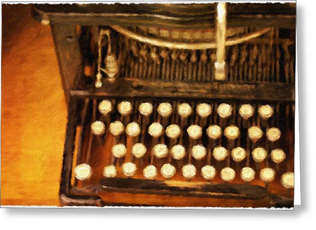 Typewriter Greeting Cards - Letter from Home Greeting Card by Bonnie Bruno
