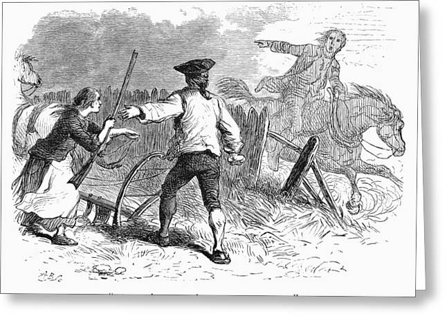 Concord Greeting Cards - Lexington: Minutemen, 1775 Greeting Card by Granger