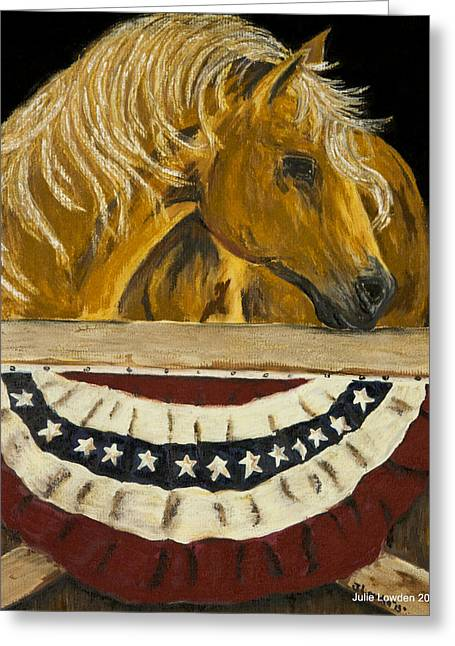 Military Pastels Greeting Cards - Liberty Greeting Card by Julie Lowden