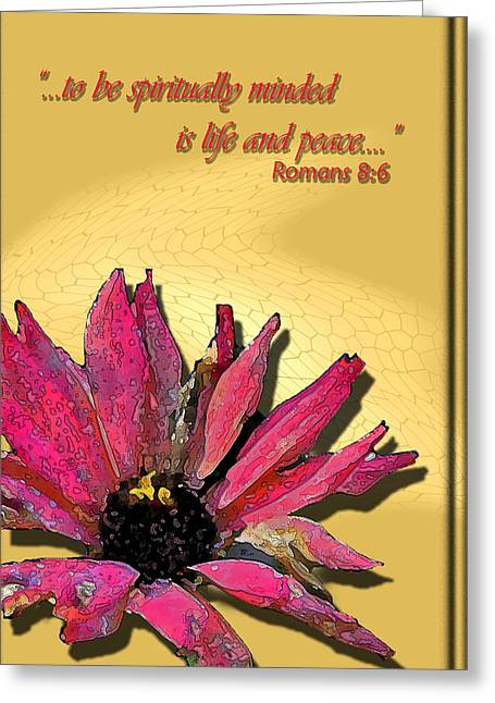 Life And Peace Greeting Card by Larry Bishop