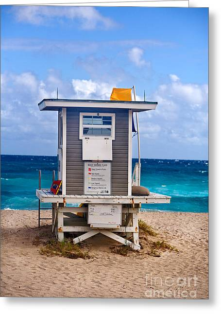 Commercial Photography Greeting Cards - Life Guard House  Greeting Card by Iris Richardson