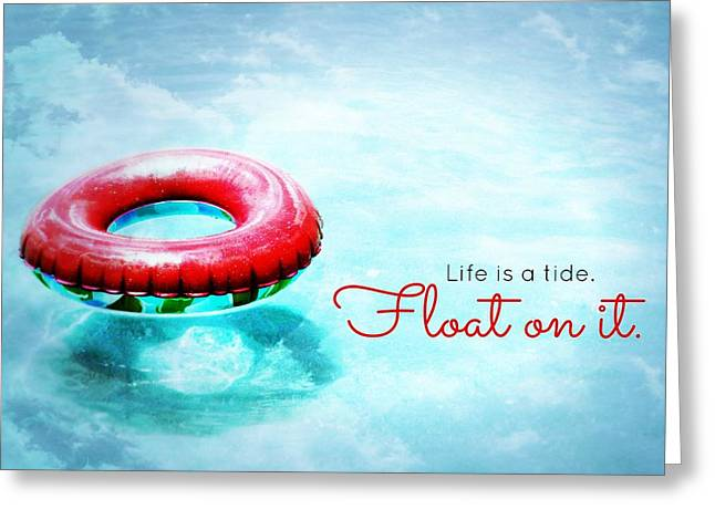 Go With The Flow Greeting Cards - Life is a Tide 2 Greeting Card by Valerie Reeves