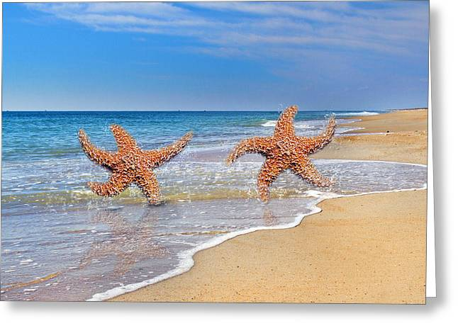 Life's A Beach Greeting Card by Betsy Knapp
