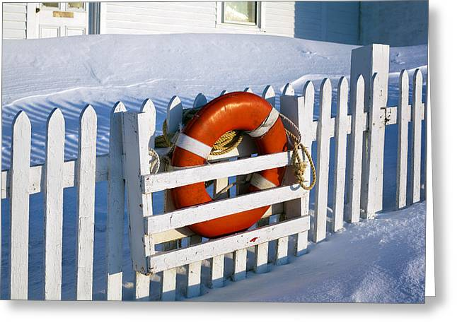 Snow Drifts Greeting Cards - Lifesaver Greeting Card by Eric Gendron