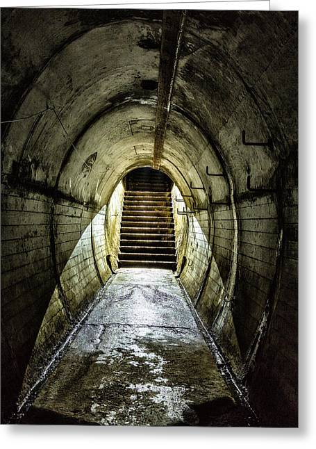 Atmospheric Greeting Cards - Light at the end of the tunnel Greeting Card by Russ Dixon