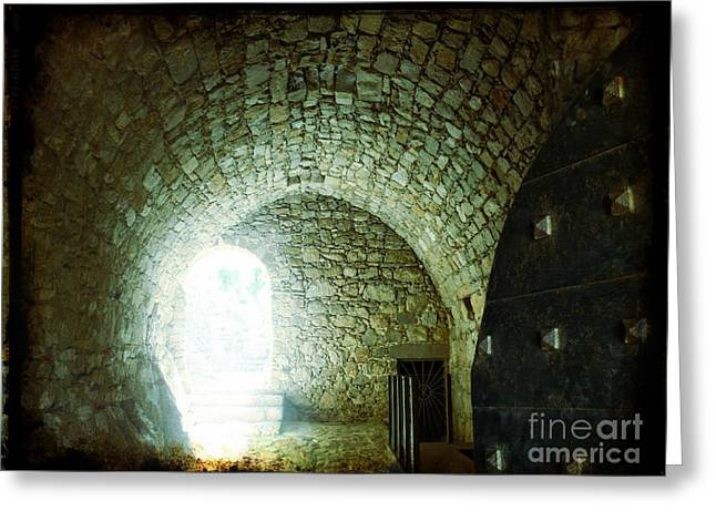 Ancient Greeting Cards - Light at the End of the Tunnel Greeting Card by Therese Alcorn