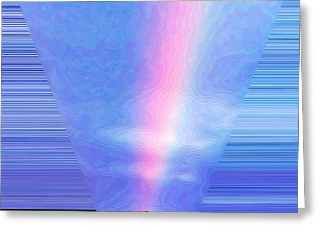 Arc-en-ciel Greeting Cards - Light beam Greeting Card by Mateo Brigande
