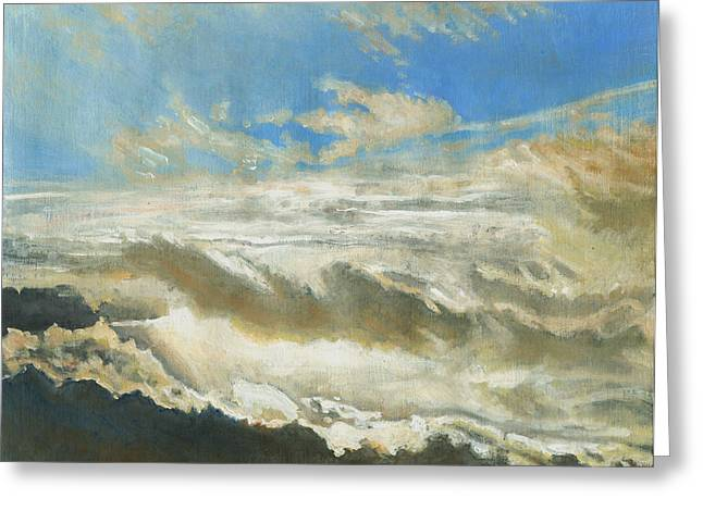 Sun Breaking Through Clouds Greeting Cards - Light revealed Greeting Card by Helen White