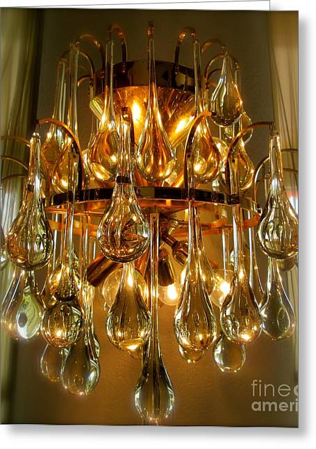 Sepia Chandeliers Greeting Cards - Light Music 2 Greeting Card by Lynn R Morris