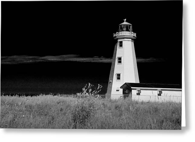 Randy Greeting Cards - Lighthouse at North Cape on PEI Greeting Card by Randall Nyhof